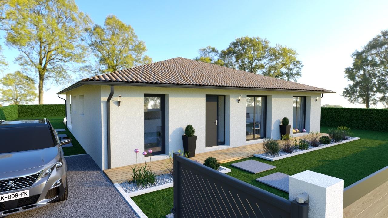Modèle de plain-pied Roséa terrasse couverte