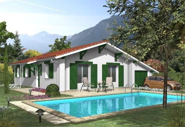 plan maison plain pied style basque