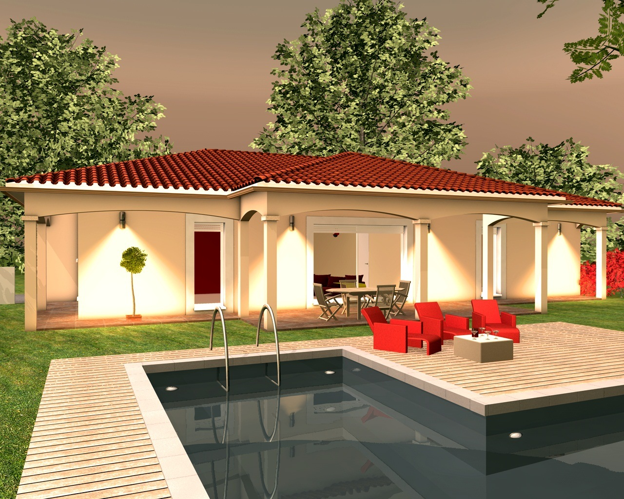 Célèbre Indogate.com | Maison Moderne Avectoiture EL05