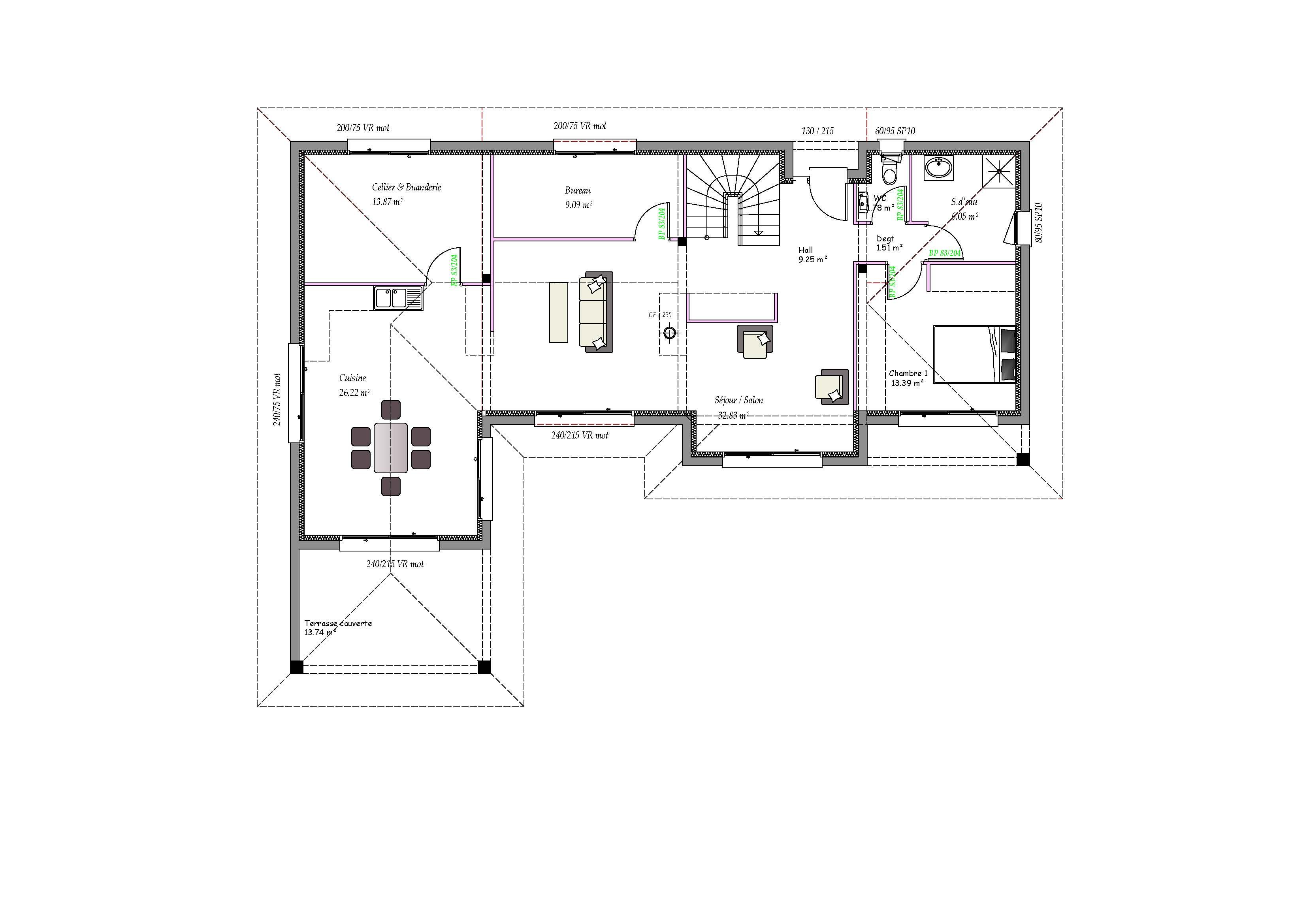 Modèles et plans de maisons > Modèle à étage Inspiration étage et ...