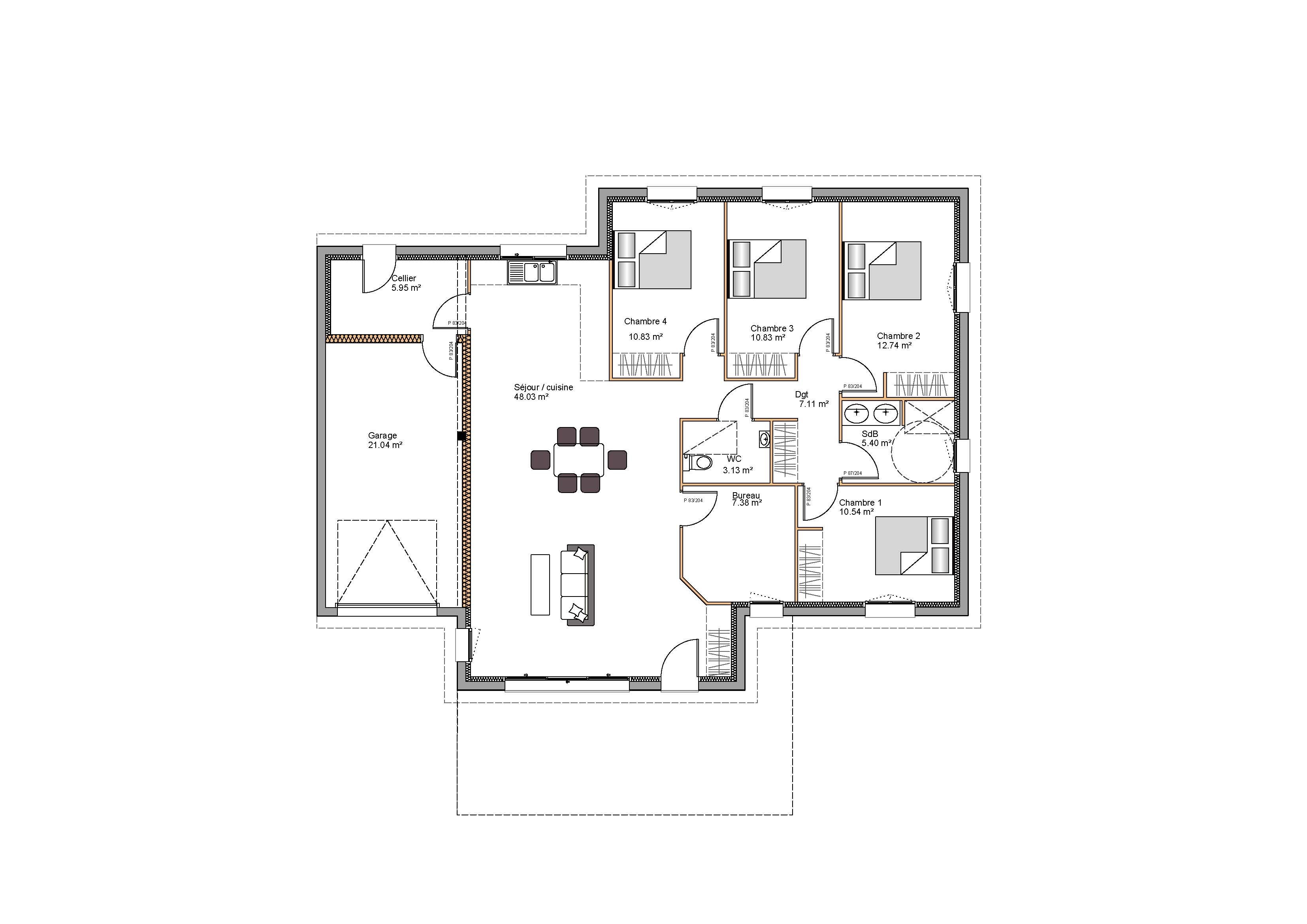 Modèles et plans de maisons > Modèle Pyrénées / Basque Rebenacq ...