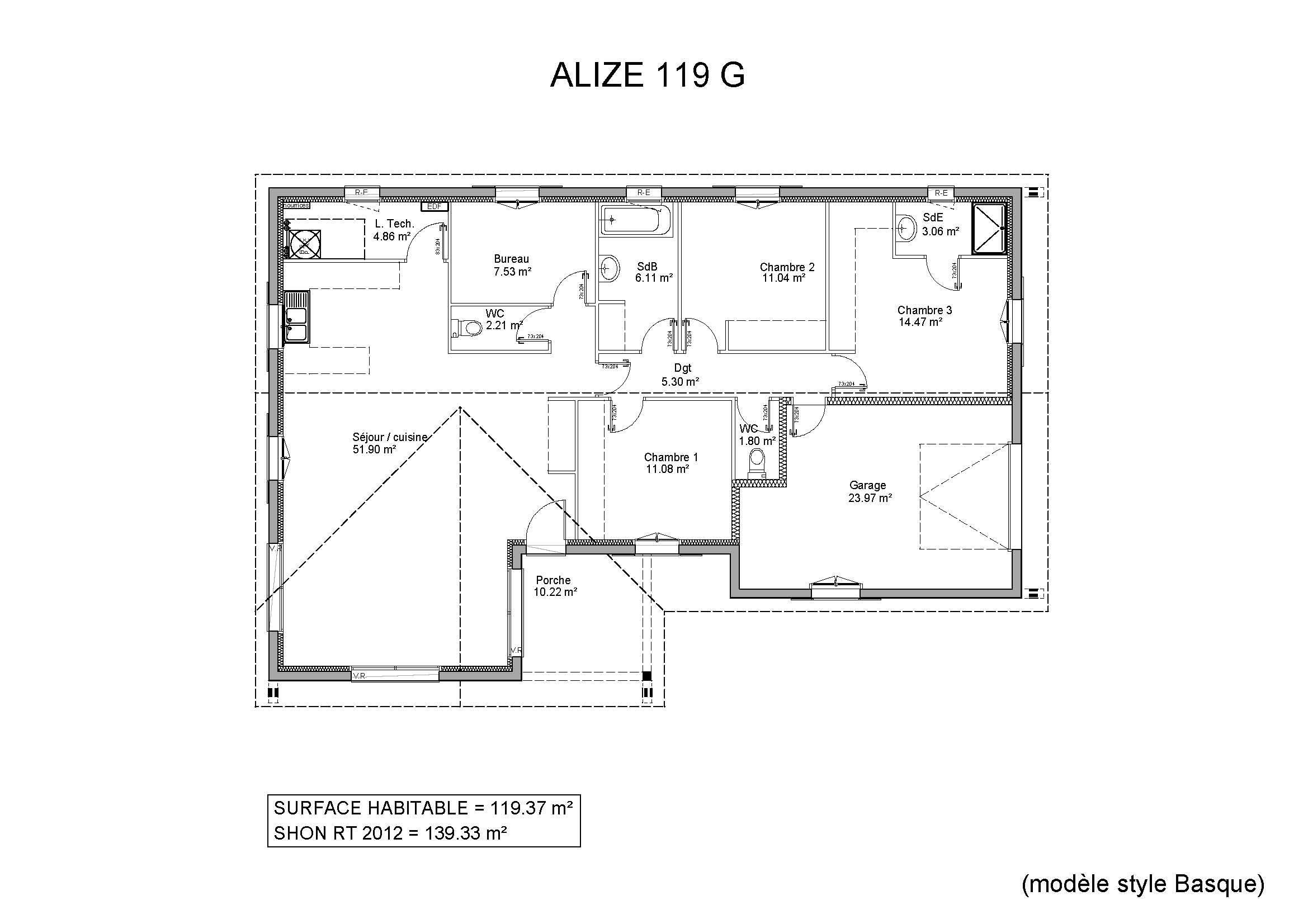 Modèles et plans de maisons > Modèle de plain-pied Ligne Alizé ...