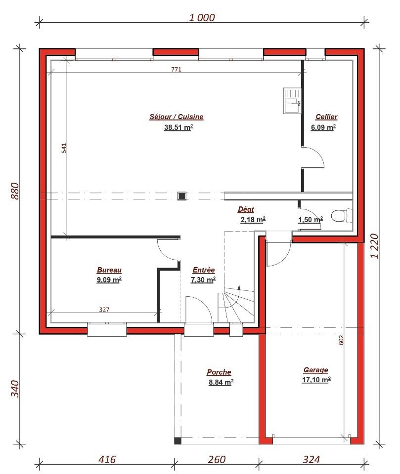 plan de maison berval