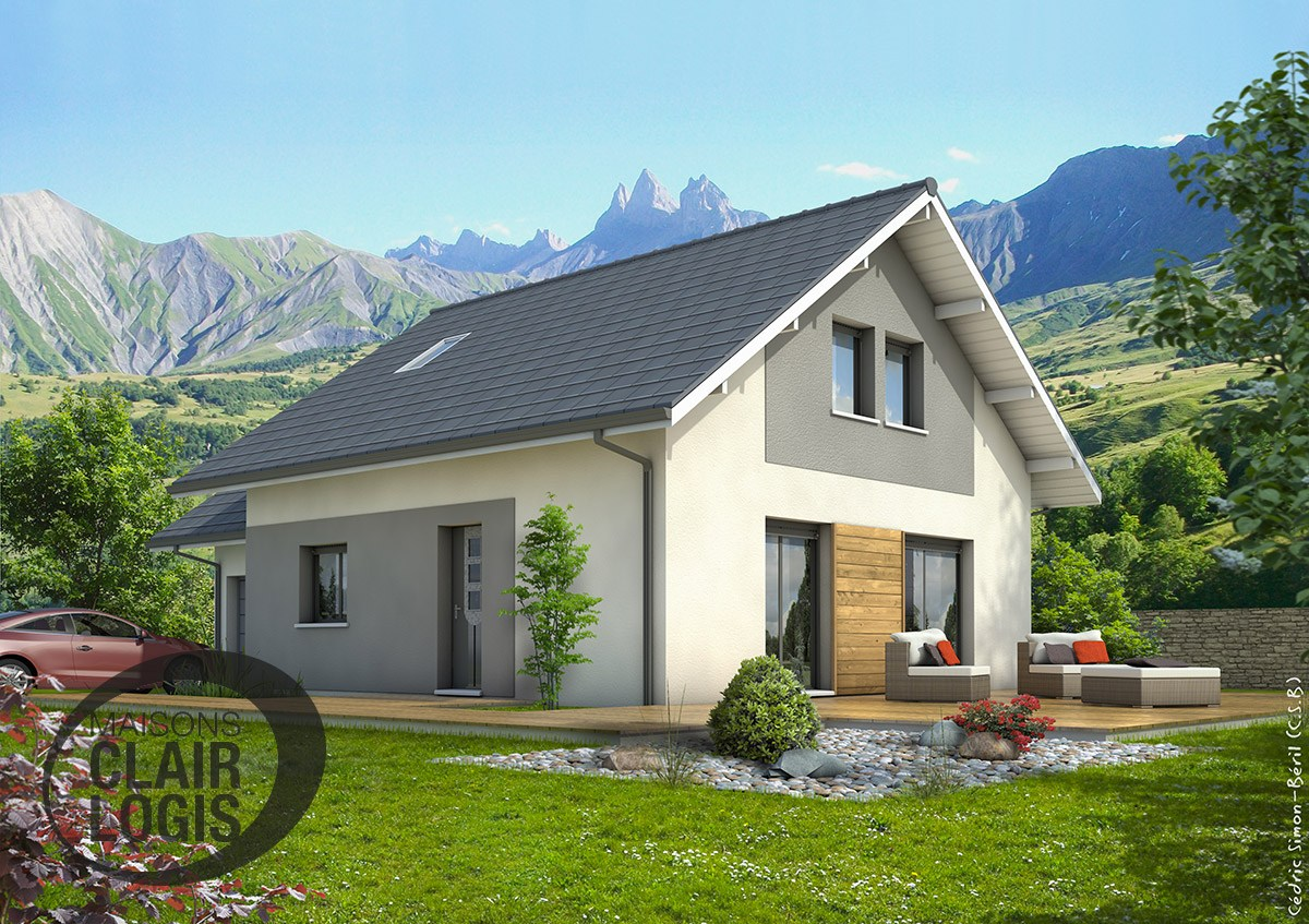 Construction maison sinard 4 ch de 96 m2 275 000 for Maison clair logis grenoble