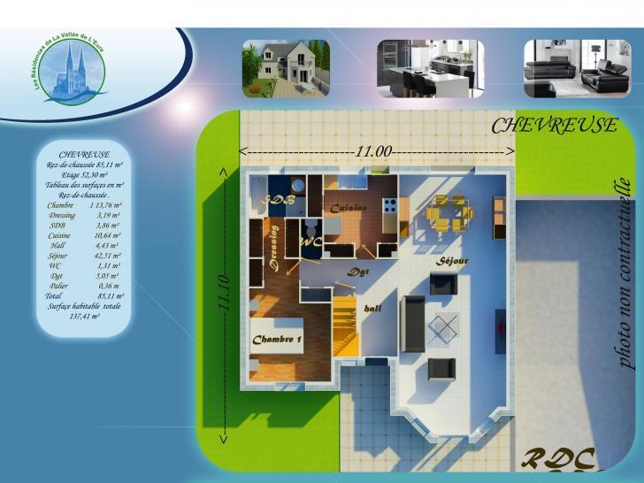 Plan de maison CHEVREUSE : Vignette 1