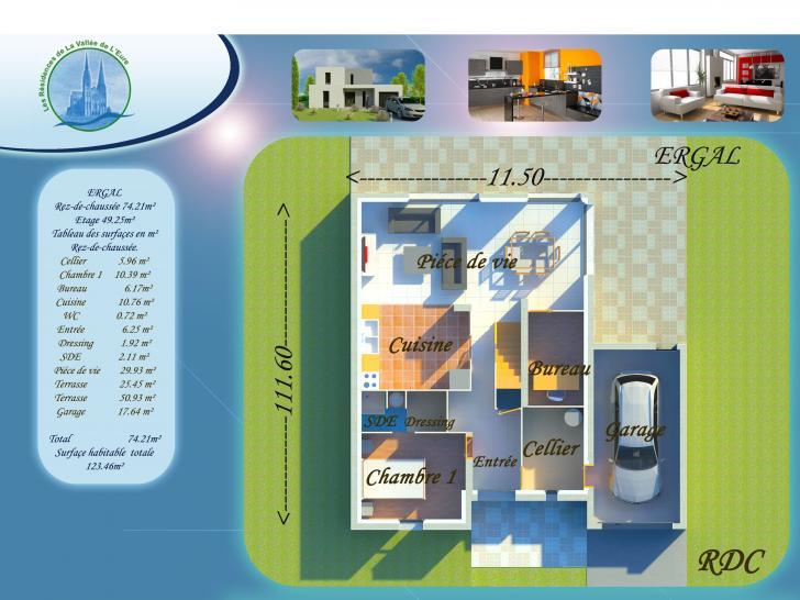 Plan de maison ERGAL : Vignette 1