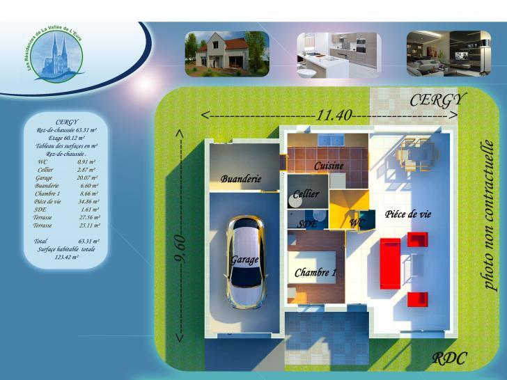 Plan de maison CERGY : Vignette 1