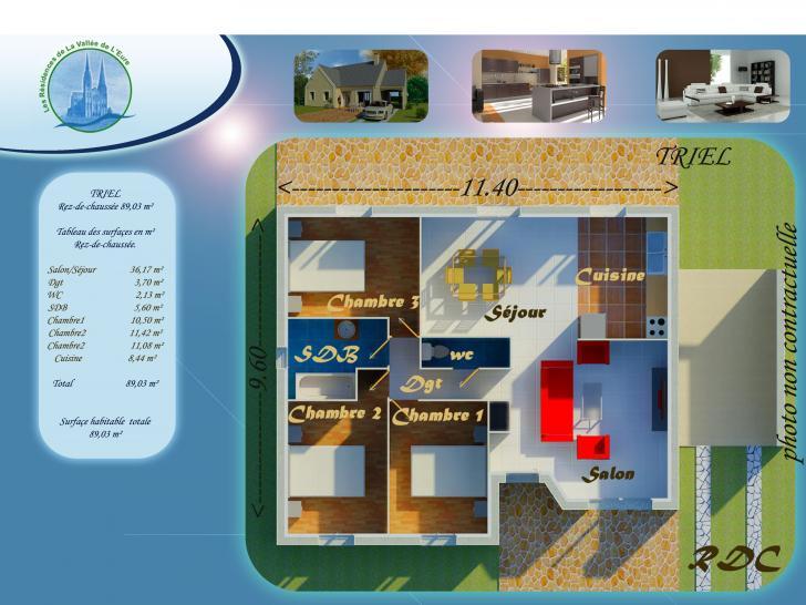 Plan de maison TRIEL : Vignette 1