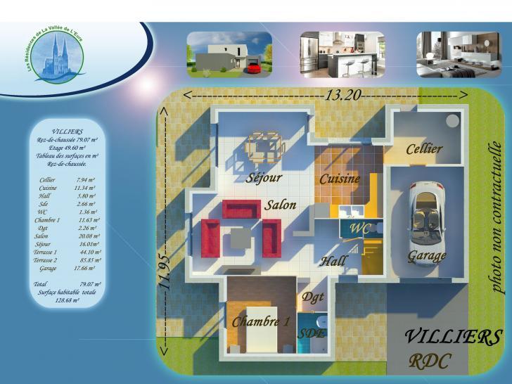 Plan de maison VILLIERS : Vignette 1