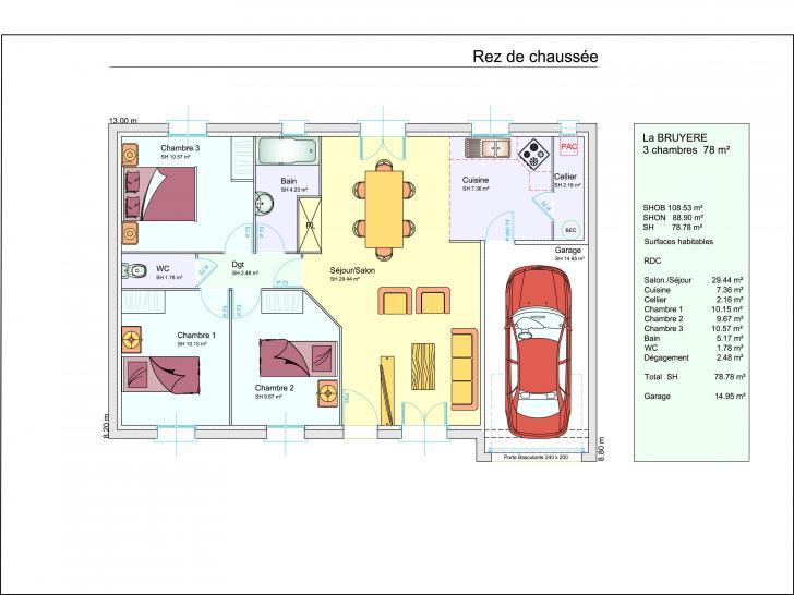 Plan de maison LA BRUYERE : Vignette 1