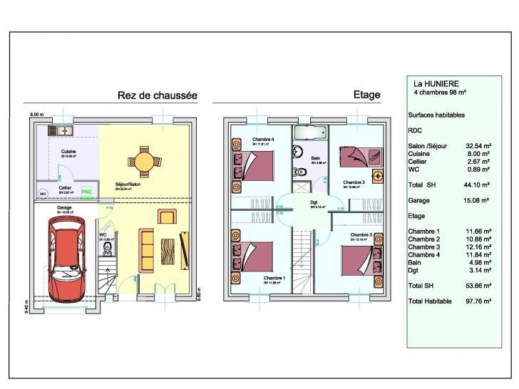 Plan de maison LA HUNIERE : Vignette 1