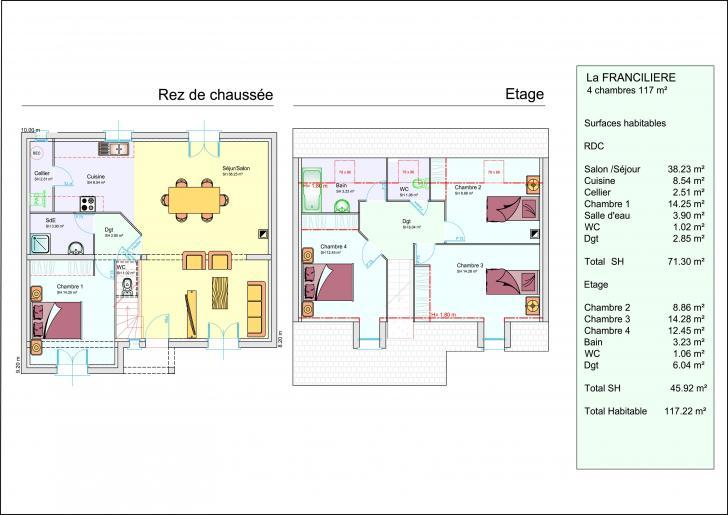 Plan de maison 150m2 plan maison chambres plain pied for Google plan maison