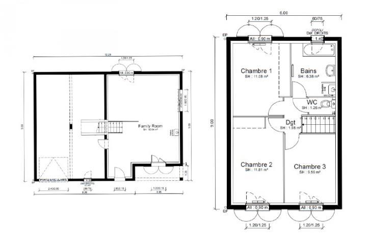 Plan de maison - CALYPSO
