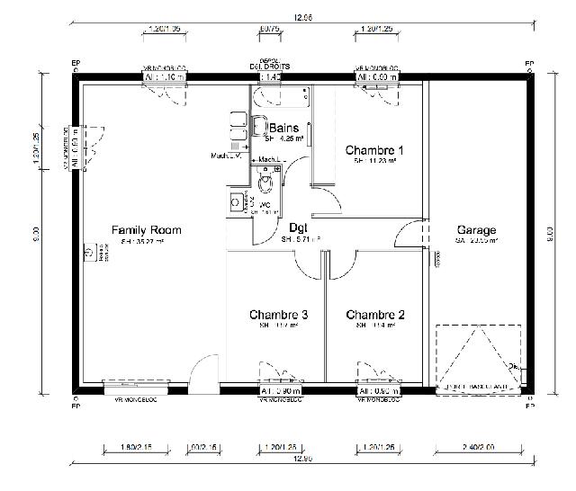 Plan de maison - CUMBIA