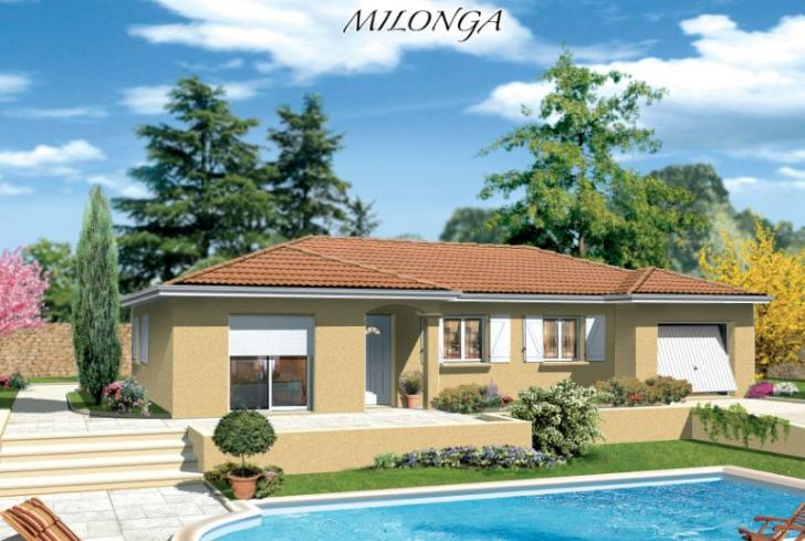 Plan maison milonga en u mod le et plan de maison for Modele maison en u