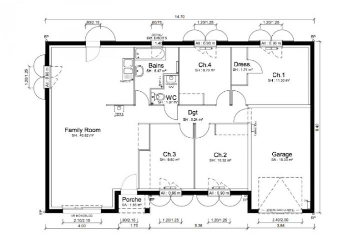 Plan de maison for Plan de maison zone llc