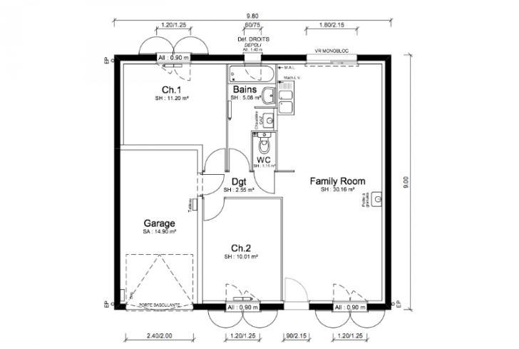 Plan de maison - MACARENA - VERSION PACA