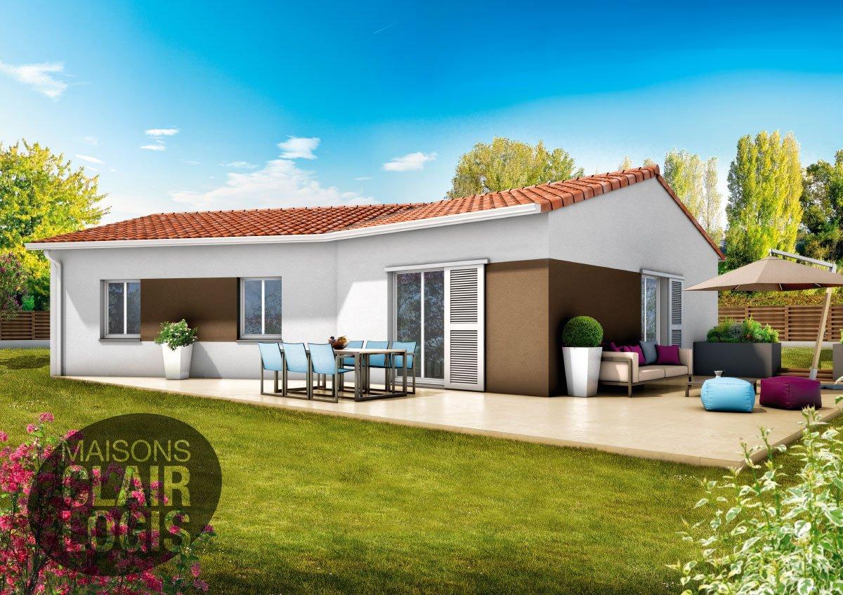 Maison 100m2 affordable with maison 100m2 maison bcm for Construire une maison 100m2