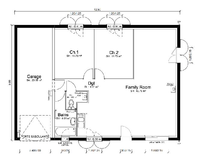 Plan de maison - MEZZO