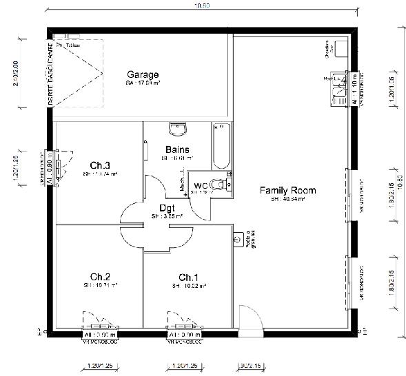 Plan de maison - LIMBO TRADITIONNELLE