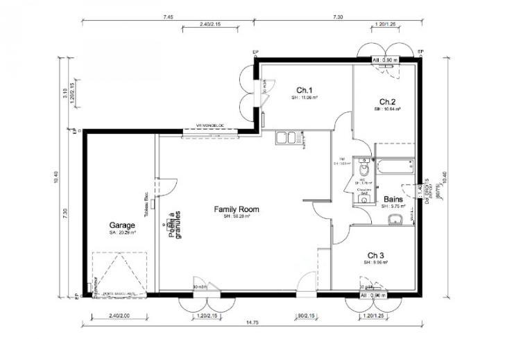 Plan de maison - SEGA - VERSION SUD