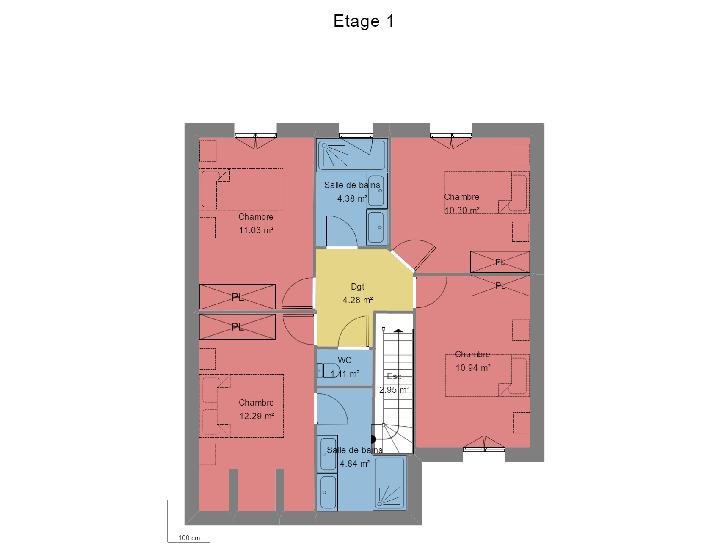 plan étage : vignette 1