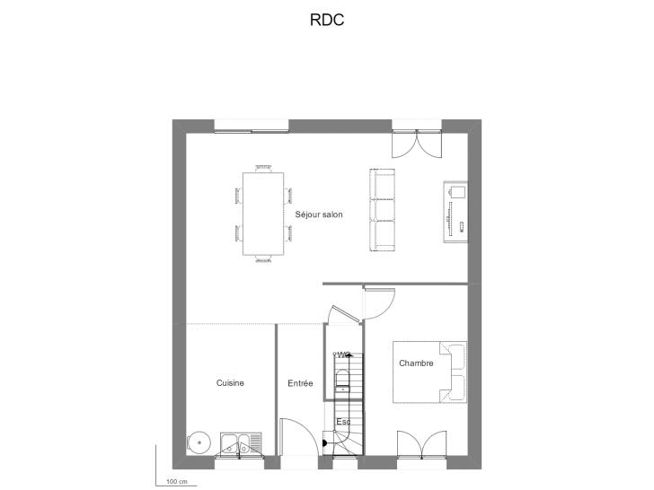 Plan de maison PRIMO R+1 : Vignette 1