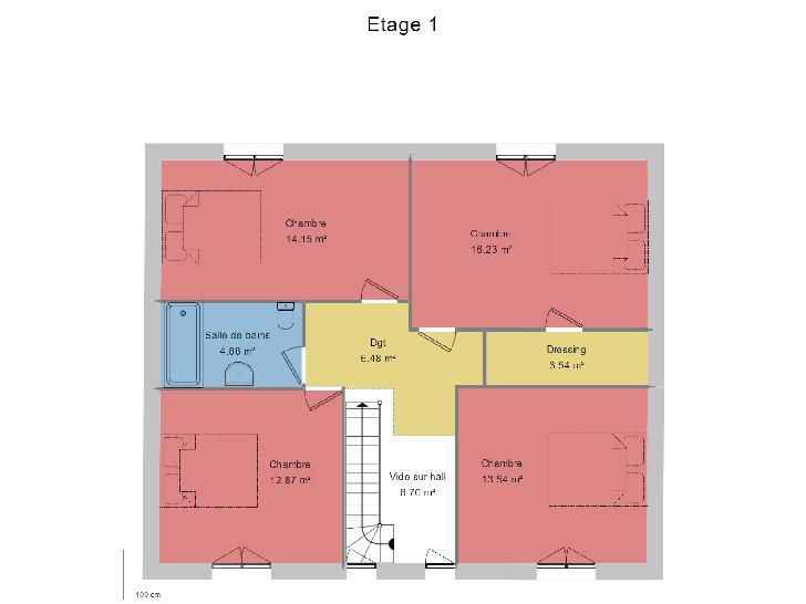 plan étage : vignette 2