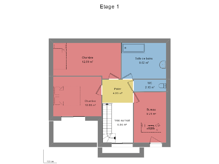 PLAN etage sans garage : vignette 2