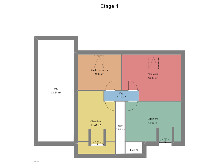plan étage : vignette 3