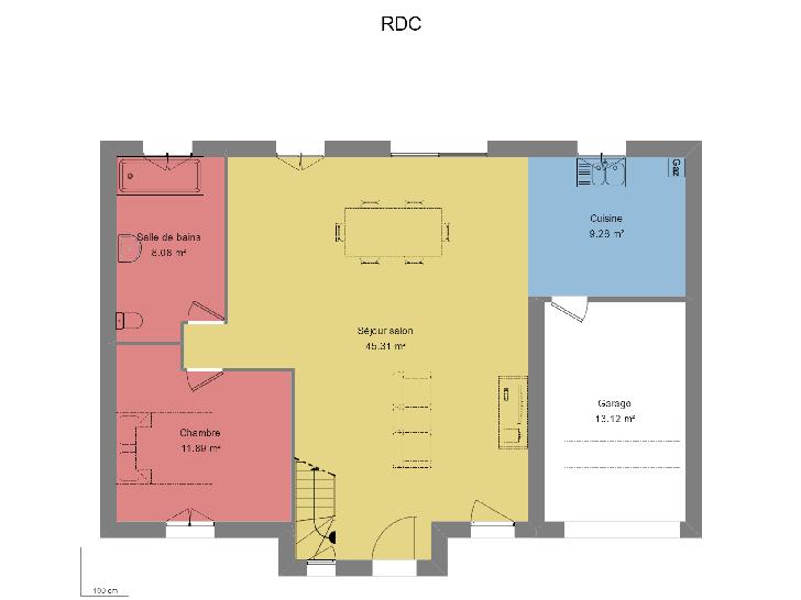 Plan de maison NOBLE AVEC GARAGE : Vignette 1
