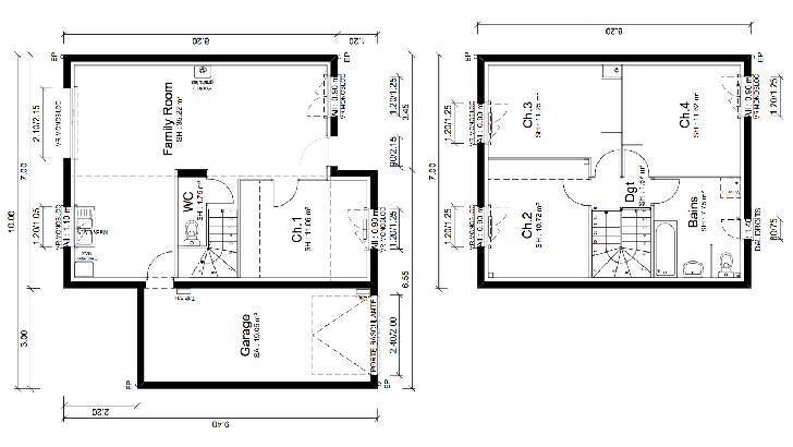 plan maison sud