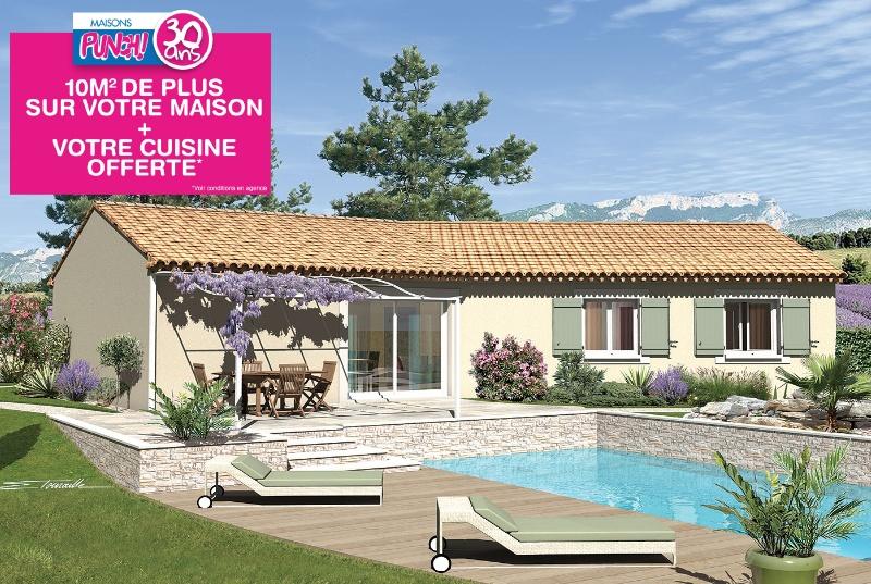 Agréable maison à construire de 96m2 en vente à Piolenc (84420)