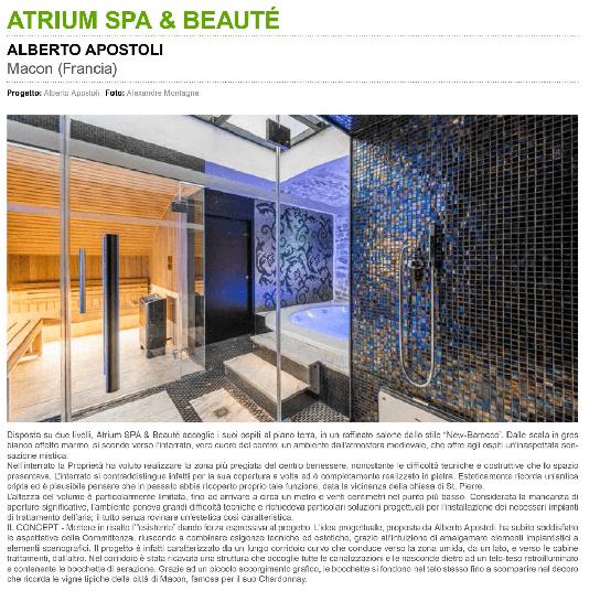 Atrium Spa et Beauté - Article Architecture - Projet italien