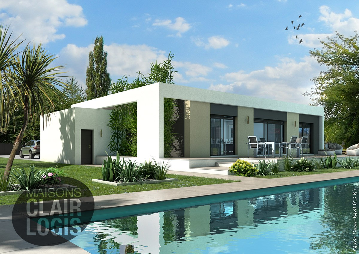 Trs Belle Maison Construire Montech With Construire Une Villa
