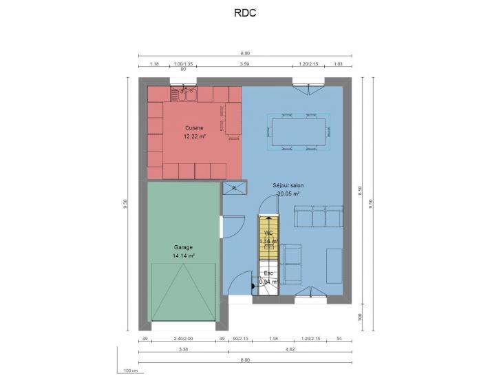 Plan de maison Modèle A : Vignette 1
