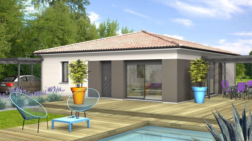 Maison à construire à Bergerac(24100)  sur un terrain de 1100m²