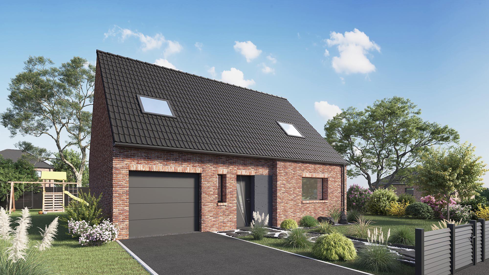 Votre maison + terrain à Camphin-en-Carembault  - 59133