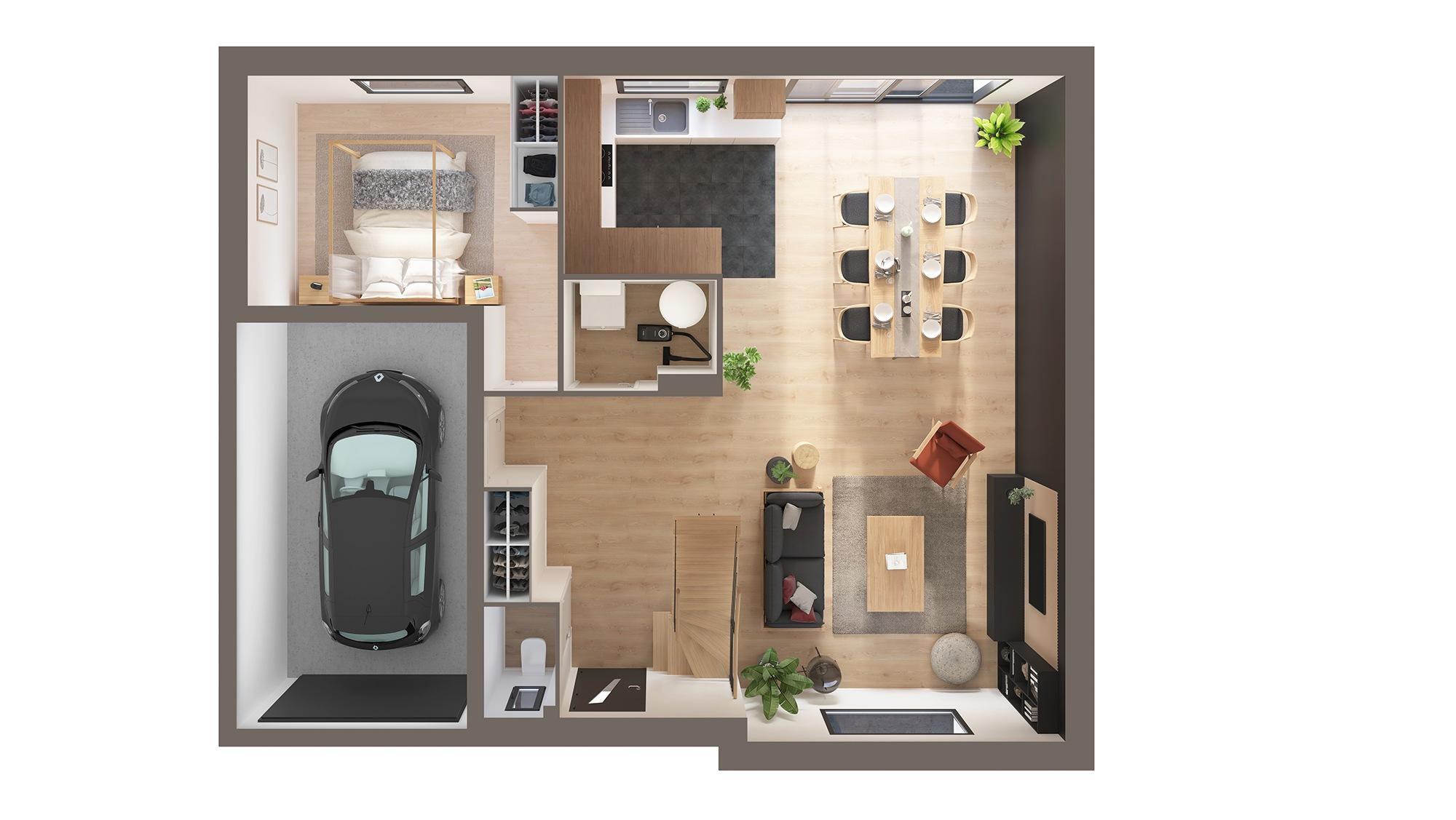 Votre maison + terrain à Beuvry-la-Forêt  - 59310
