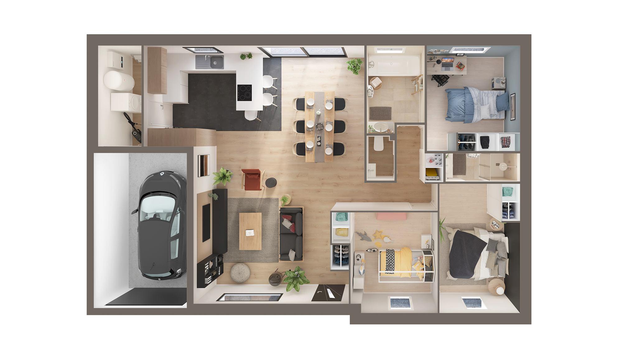 Votre maison + terrain à Auchy-les-Mines  - 62138
