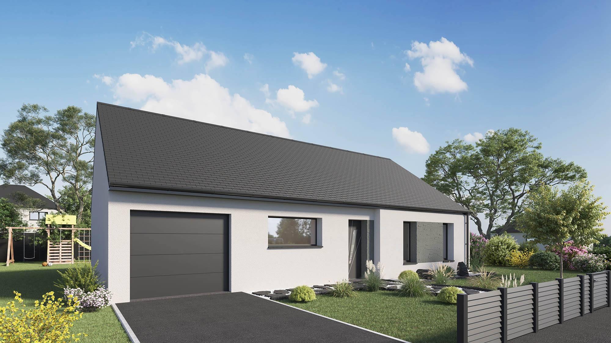Votre maison + terrain à Saint-Manvieu-Norrey  - 14740