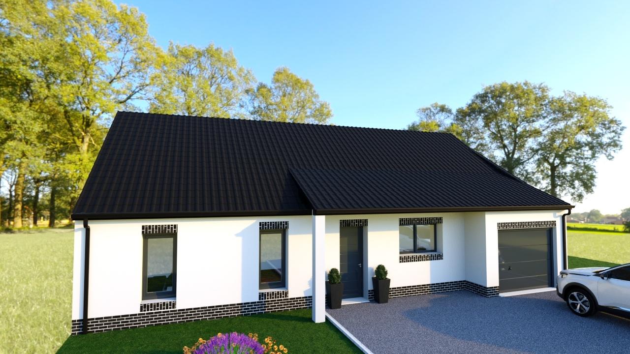 Votre maison + terrain à Sains-en-Gohelle  - 62114