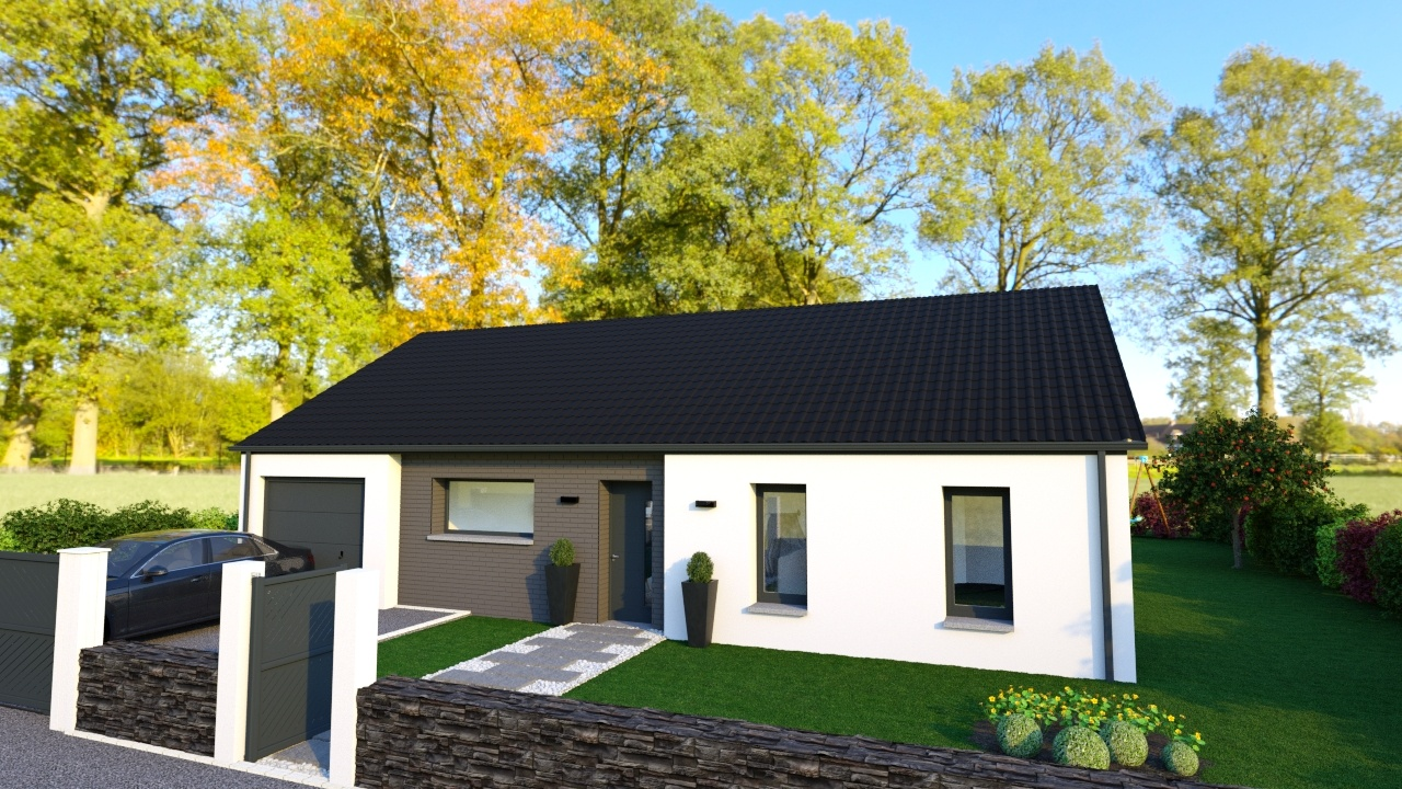 Votre maison + terrain à Cambrin  - 62149