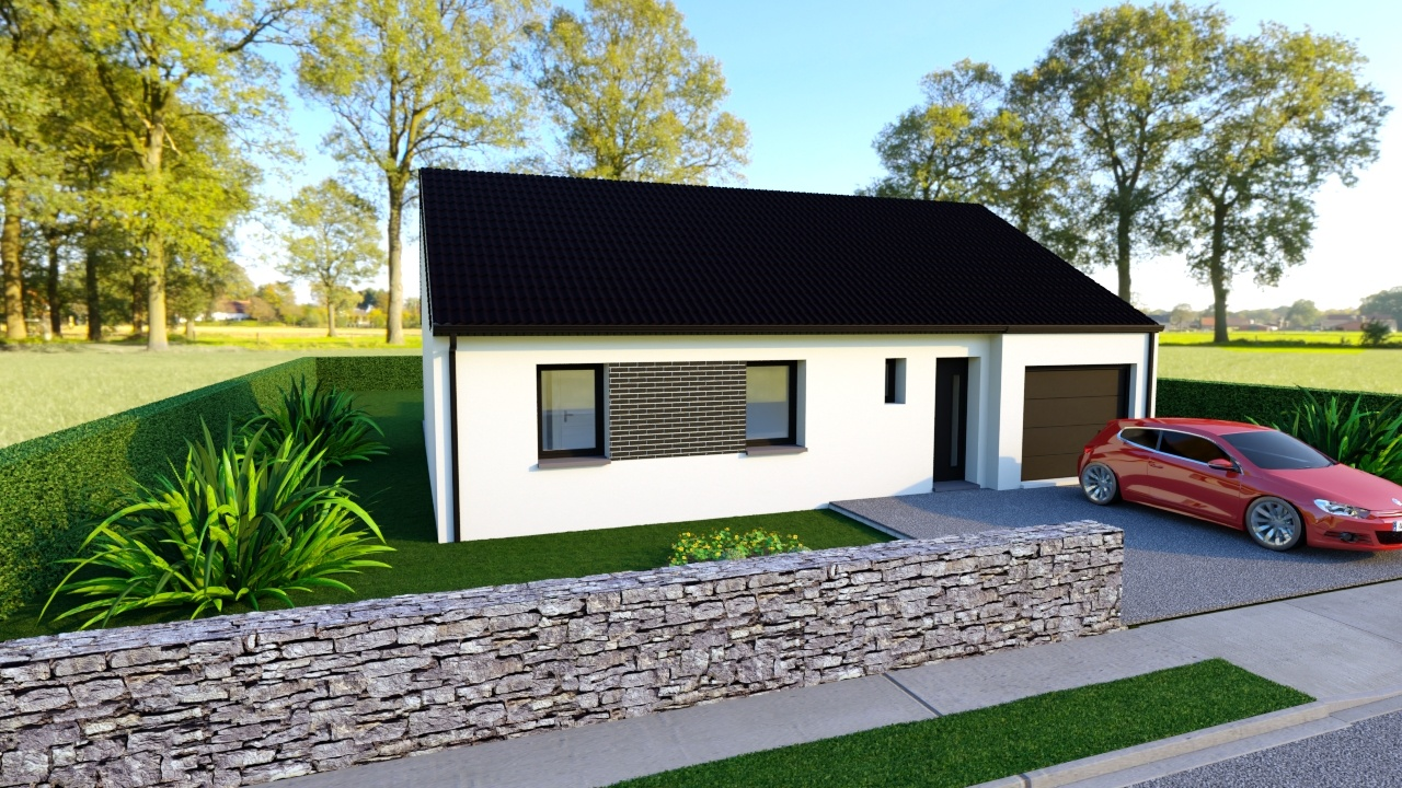 Votre maison + terrain à Lallaing  - 59167