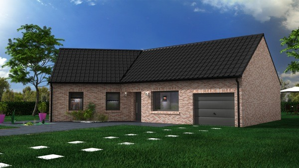 Votre maison + terrain à Roost-Warendin  - 59286