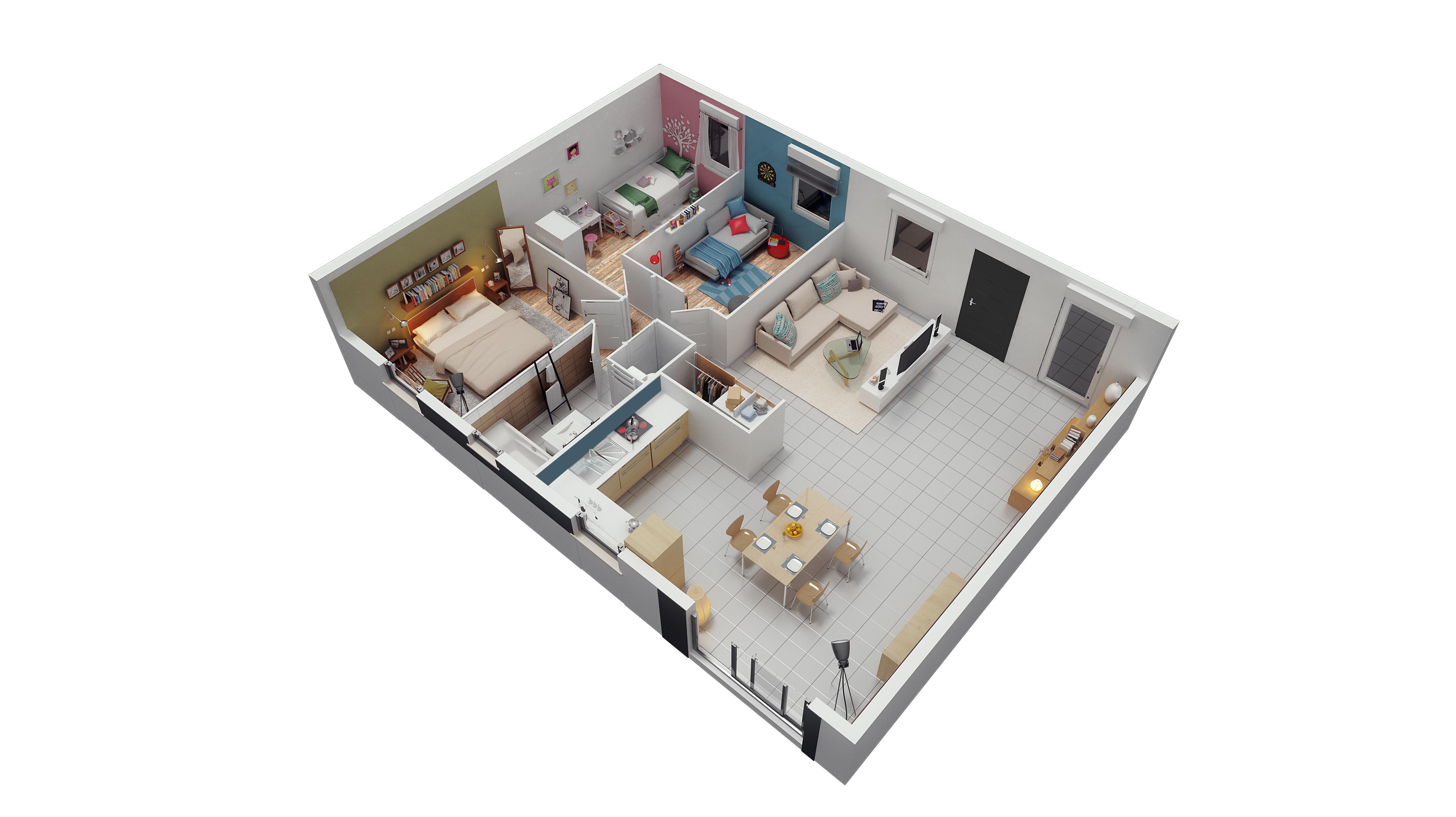 Maisons phenix maison 4 pi ce s 80 m charvieu for Amenagement jardin 90m2