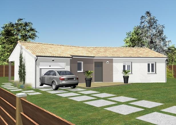 Mod les et plans de maisons mod le de plain pied for Maison sur terrain rectangulaire
