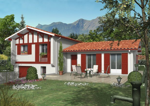 plan maison moderne pays basque
