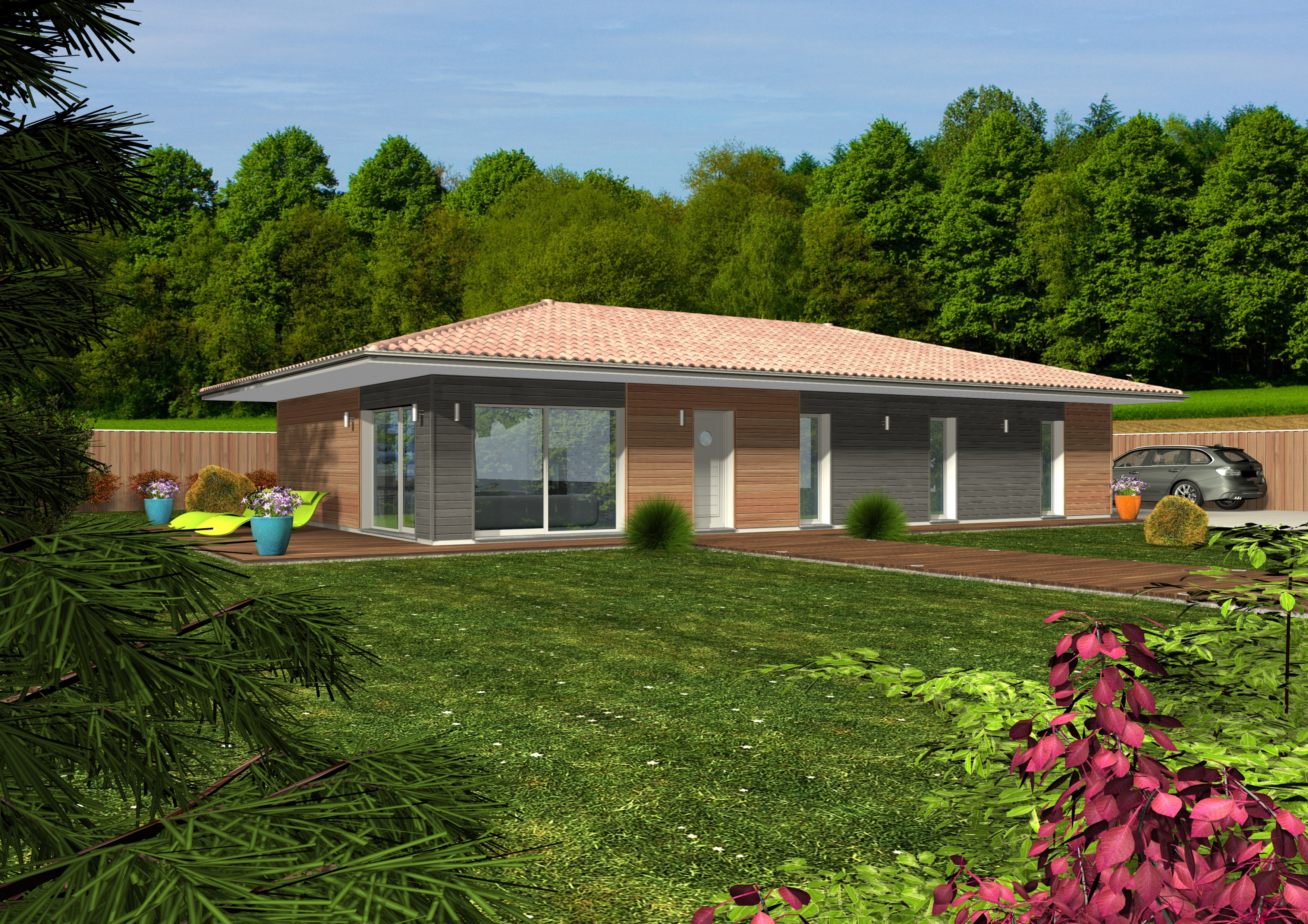 Exceptionnel Maisons + Terrains Archives - Maisons Bois Clairlande EZ19