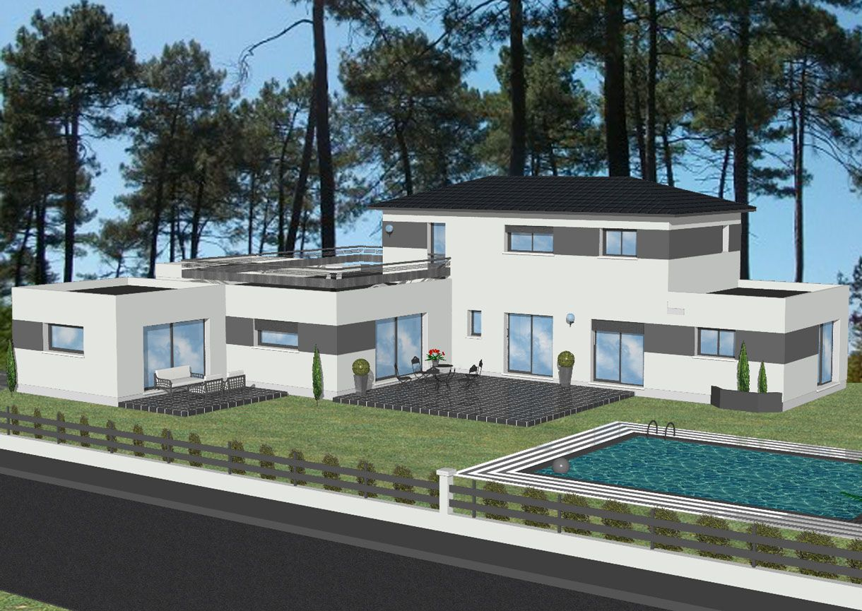 Mod les et plans de maisons sur mesure constructions for Villa contemporaine moderne design